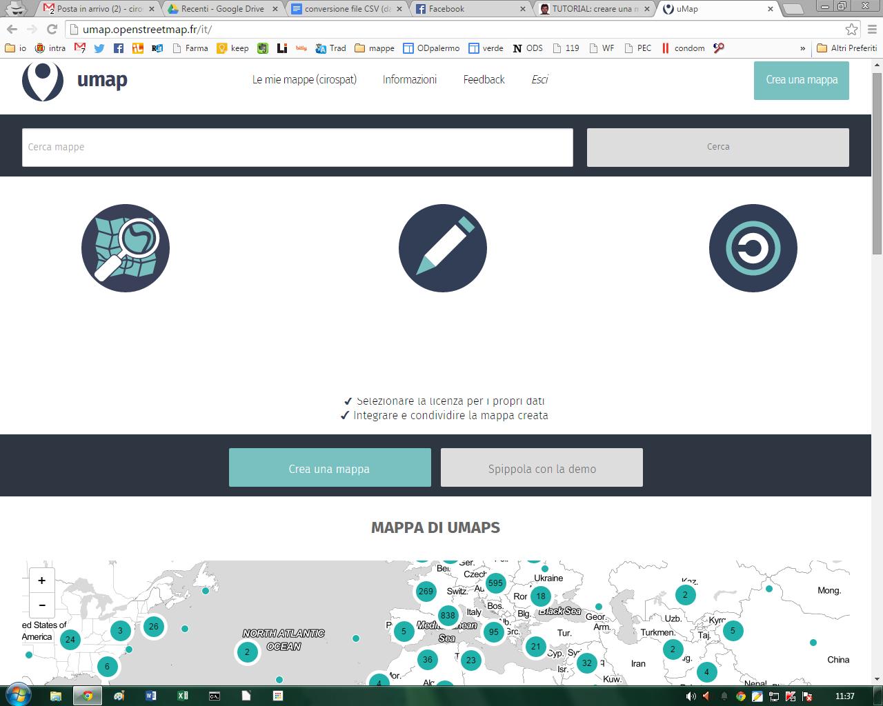 Tutorial per creare mappe online su UMAP aggiornabili con